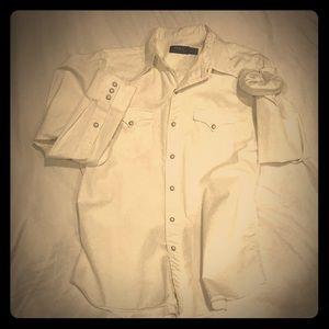 POLO Ralph Lauren White Snap Button Shirt